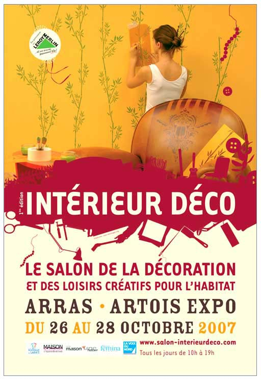 Bien Affiche Decoration Interieur #3: Creation Affiche Salon Décoration Et Habitat