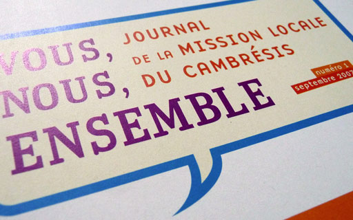 Graphiste ind pendant lettre d 39 information et journal for Mission locale salon de provence