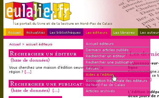 creation internet site livre et lecture